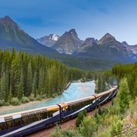 Train and Mountains