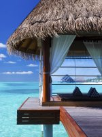 Maldives water villa