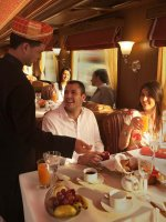 Maharaja express - breakfast room